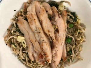 Stir Fry Soba with Vegetables and Chicken