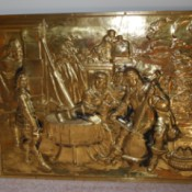 Identifying a Piece of Metal Relief Art - bronze or copper colored relief of musicians