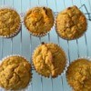 Sweet Potato Corn Muffins on rack