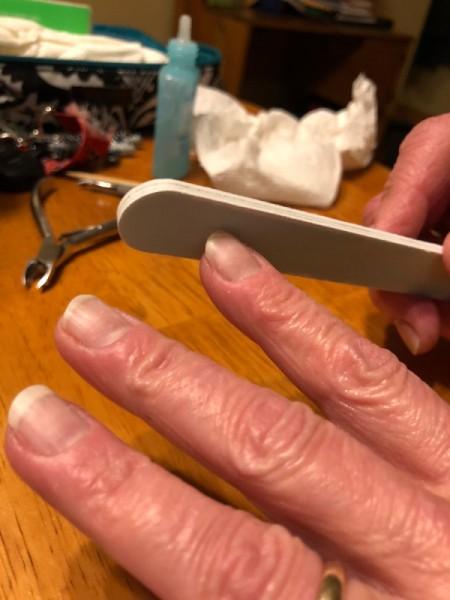 DIY Manicure -  filing to shape