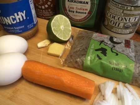 Shirataki Pad Thai ingredients