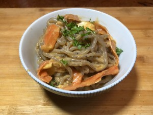 Shirataki Pad Thai in bowl