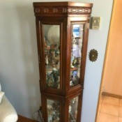 Value of a Mersman Glass Curio Cabinet - tall curio cabinet