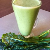 Banana Kale Smoothie in glass