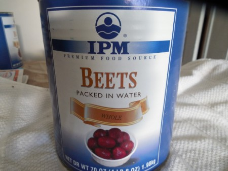 Saving Leftover Canned Beets - large can of beets