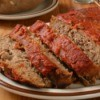 Sliced meatloaf on a plate
