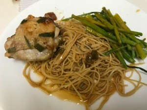 Honey Garlic Chicken on dinner plate