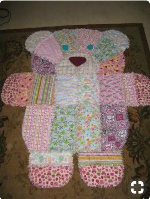 Discontinued Simplicity Craft  - Pattern - cute scrappy Teddy Bear quilt
