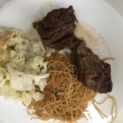 Short Ribs on dinner plate