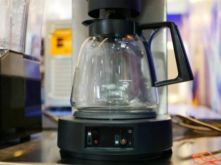 Closeup of a Coffee pot.