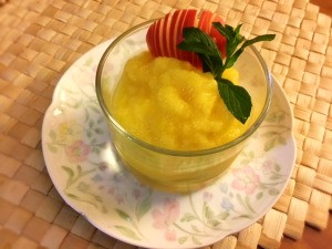Pineapple Nice Cream in serving dish