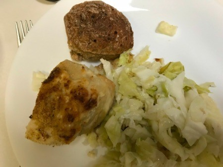Chicken Cutlet on dinner plate