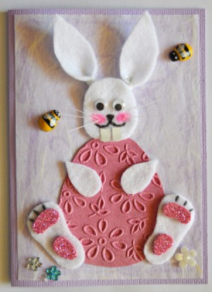 Chocoholic Easter Bunny Card