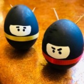 Standing Ninja Eggs - closeup of two Ninja eggs