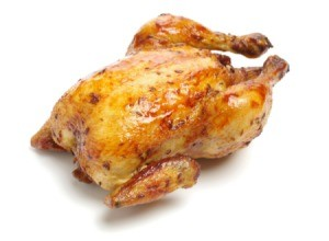 Roast Chicken on a white background
