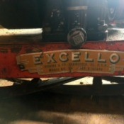 Value of an Excello Reel Lawn  Mower - name plate
