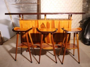 Value of Wooden Bar from Thailand - bar and two stools