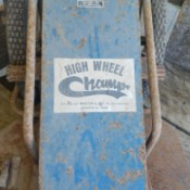 Value of a Brister's High Wheel Champ Mower - partial view of mower