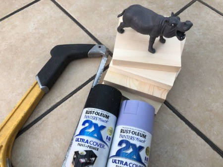 Making Plastic Animal Bookends - supplies