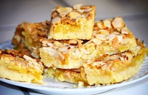 Almond Delights squares on plate