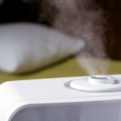 Humidifier in a bedroom