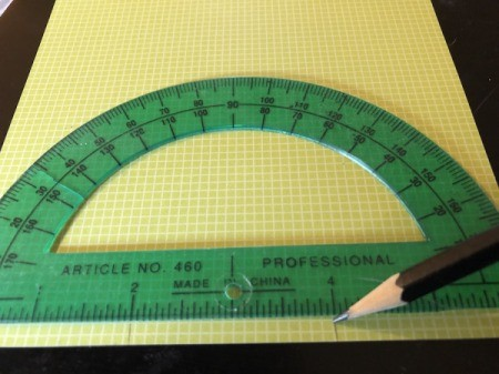 Craft Paper Basket - mark your paper at 2 and 4 inches at both ends