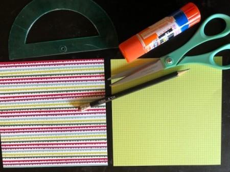 Craft Paper Basket - supplies