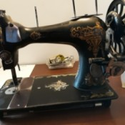 Determining the Age of an Old Sewing Machine - ornate antique sewing machine
