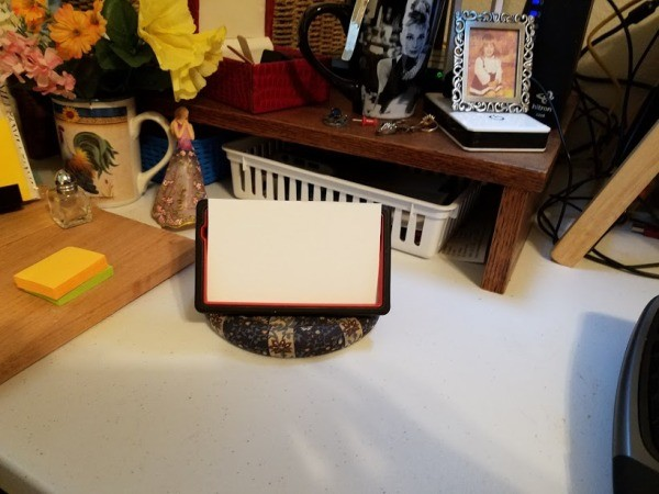 Old Phone Case as Photo Frame - paper cut to fit