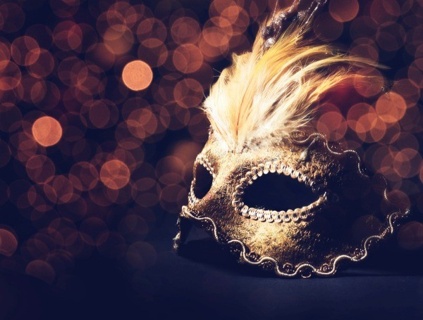 Masquerade Mask On A Black Table