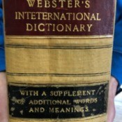 Value of Webster's Encyclopedic Dictionary 1891