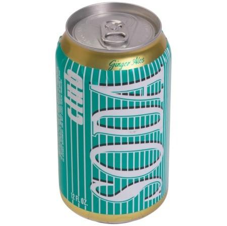 Can of club soda