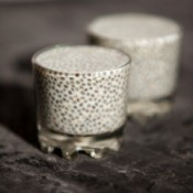 Chia Seeds soaking in small glasses