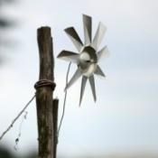 Aluminum can pinwheel.