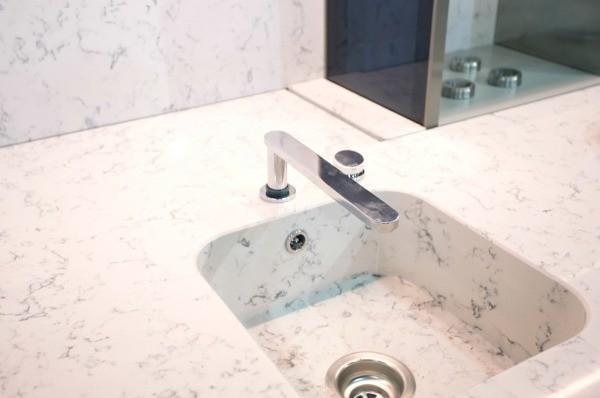One Piece Marble Bathroom Sink