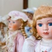 Bisque or porcelain dolls.