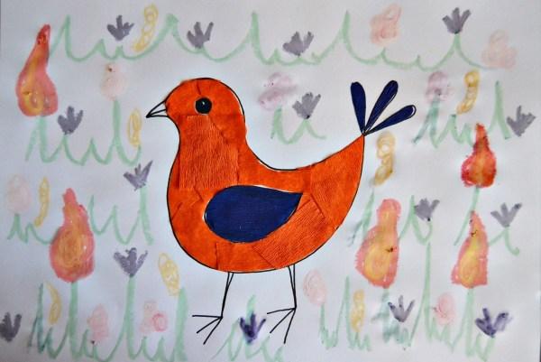 Colorful Spring Bird Kids Artwork Thriftyfun