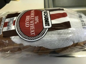 A paper towel inside a package of sliced bread for the freezer.