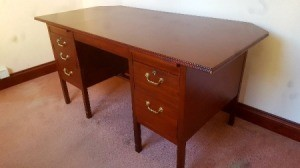 Value of a 1970s Bank Desk - desk with 6 drawers