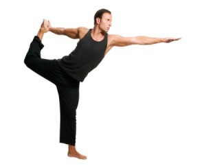Man doing yoga balance pose