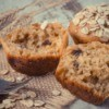 Oatmeal Muffins with fork