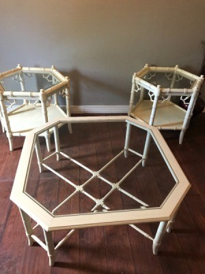Value of 1960s Thomasville Faux Bamboo Tables