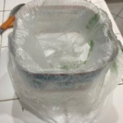 Kitchen Scrap Trash Can - lined with produce bag