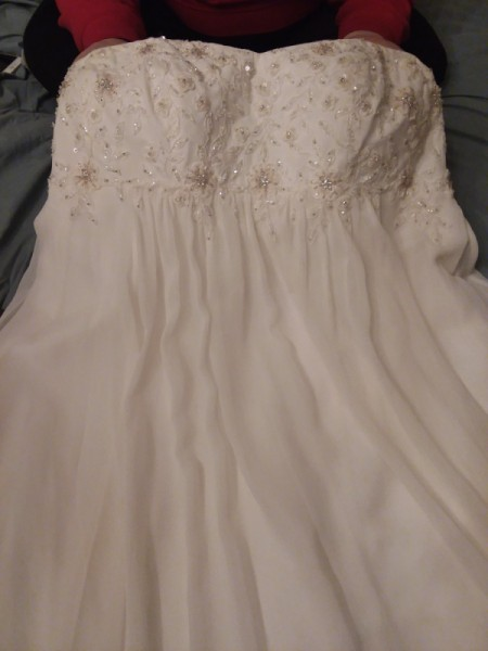 Cleaning a Polyester Wedding Dress