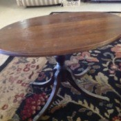 Information on a Mersman Table - oval 4 legged table