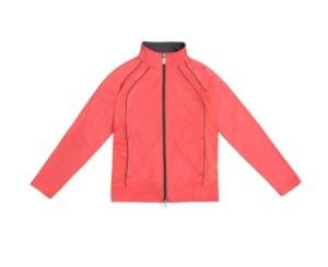 Red jacket on white background.