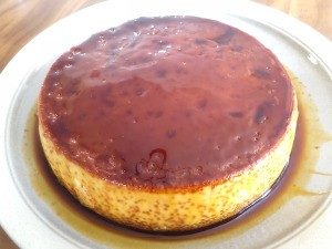 Creme Caramel flipped on plate