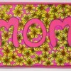 Floral Mother's Day Card - finished card with the coloring page glued to the front along with the center of the O