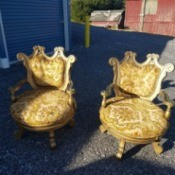 Identifying Ornate Upholstered Chairs - ornate gold floral upholstered chairs