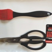 Bargain kitchen shears and a silicone basting brush from WalMart